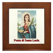 Festa di Santa Lucia Framed Tile
