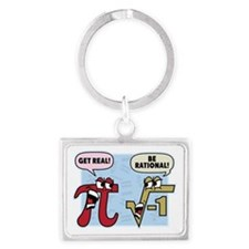 Get Real Be Rational Keychains