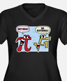 Get Real Be Rational Plus Size T-Shirt