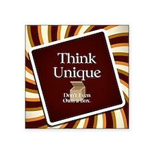 """Think Unique Square Sticker 3"""" x 3"""""""