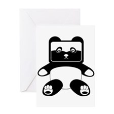 Panda Head Greeting Card