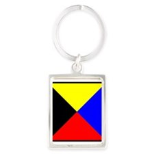 Nautical Flag Code Zulu Keychains