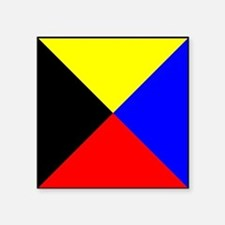 Nautical Flag Code Zulu Sticker