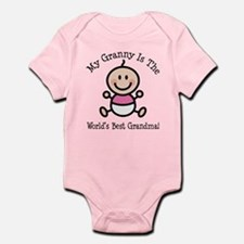 Best Granny Baby Girl Stick Figure Infant Bodysuit