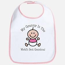 Best Granny Baby Girl Stick Figure Bib