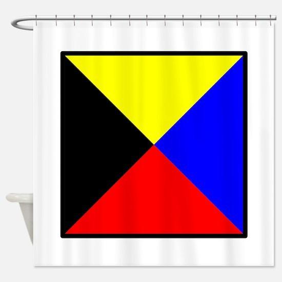 Nautical Flag Code Zulu Shower Curtain