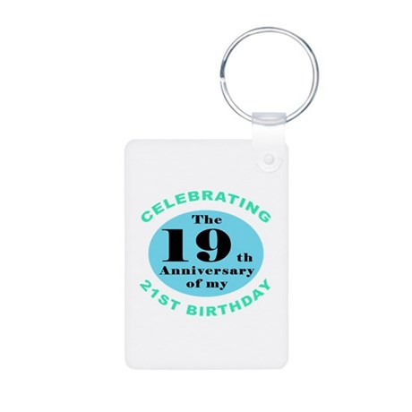 40th Birthday Humor Aluminum Photo Keychain