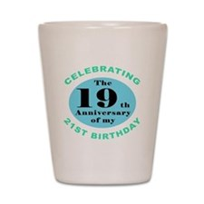 40th Birthday Humor Shot Glass