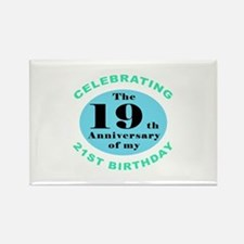 40th Birthday Humor Rectangle Magnet