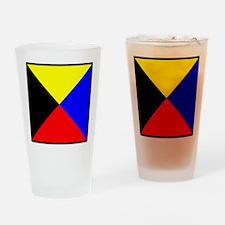 Nautical Flag Code Zulu Drinking Glass