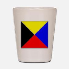 Nautical Flag Code Zulu Shot Glass