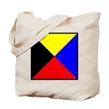Nautical Flag Code Zulu Tote Bag