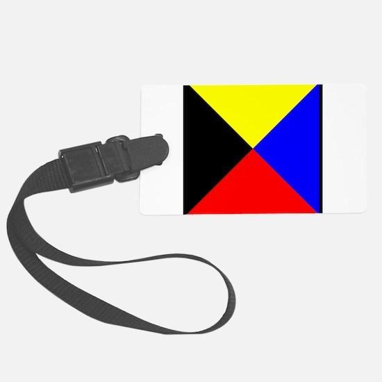 Nautical Flag Code Zulu Luggage Tag