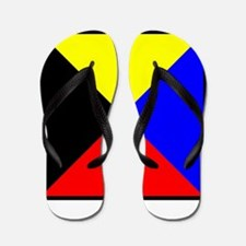 Nautical Flag Code Zulu Flip Flops