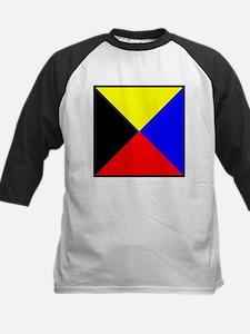 Nautical Flag Code Zulu Baseball Jersey