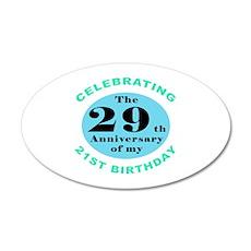 50th Birthday Humor 20x12 Oval Wall Decal