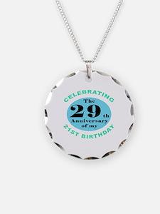 50th Birthday Humor Necklace