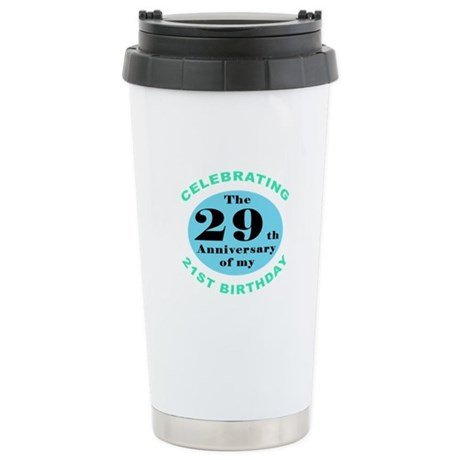 50th Birthday Humor Stainless Steel Travel Mug