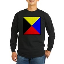 Nautical Flag Code Zulu Long Sleeve T-Shirt