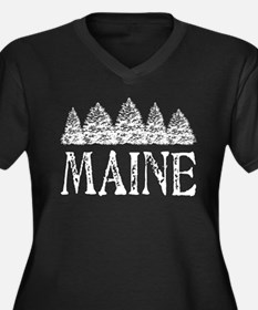 Maine Winter Evergreens Plus Size T-Shirt