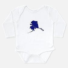 Alaska Flag Long Sleeve Infant Bodysuit