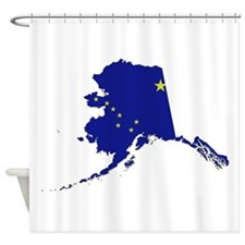 Alaska Flag Shower Curtain
