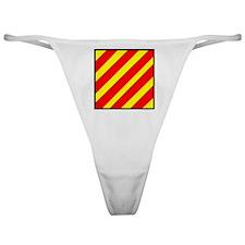 Nautical Flag Code Yankee Classic Thong