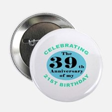 "60th Birthday Humor 2.25"" Button (10 pack)"