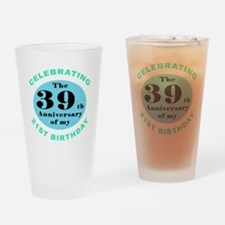 60th Birthday Humor Drinking Glass