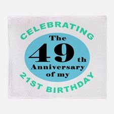 70th Birthday Humor Throw Blanket