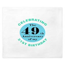 70th Birthday Humor King Duvet