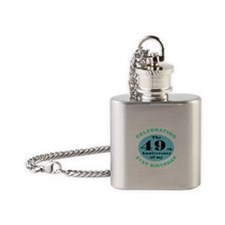 70th Birthday Humor Flask Necklace