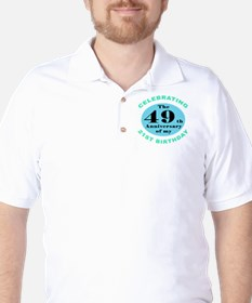 70th Birthday Humor Golf Shirt
