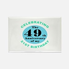 70th Birthday Humor Rectangle Magnet