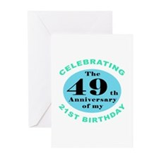 70th Birthday Humor Greeting Cards (Pk of 10)