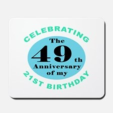 70th Birthday Humor Mousepad