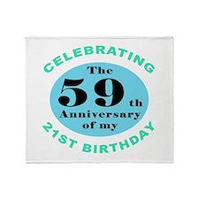 80th Birthday Humor Throw Blanket