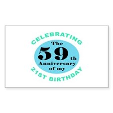 80th Birthday Humor Decal