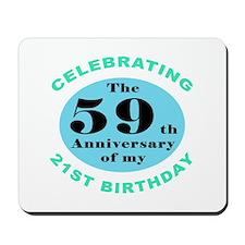 80th Birthday Humor Mousepad