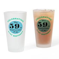 80th Birthday Humor Drinking Glass
