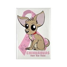 Chihuahuas for Ta-Tas Rectangle Magnet