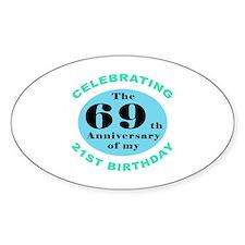 90th Birthday Humor Decal