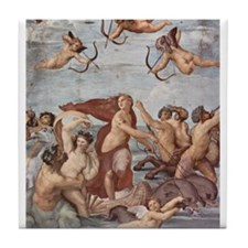 Triumph of Galatea by Raphael Tile Coaster