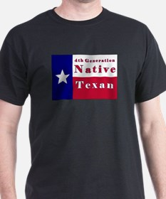4th Generation Native Texan Flag T-Shirt