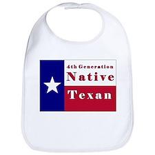 4th Generation Native Texan Flag Bib