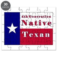 4th Generation Native Texan Flag Puzzle