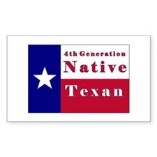 4th Generation Native Texan Flag Bumper Stickers