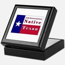 4th Generation Native Texan Flag Keepsake Box
