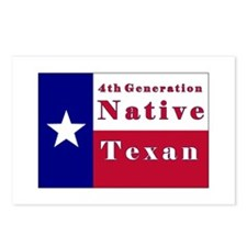 4th Generation Native Texan Flag Postcards (Packag