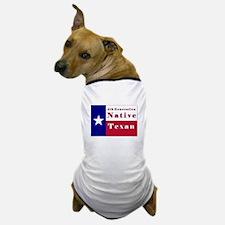 4th Generation Native Texan Flag Dog T-Shirt